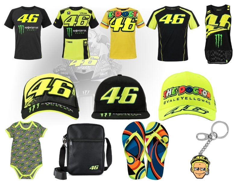 New Item Goods Of Valentino Rossi From T Shirts To Beach Sandals