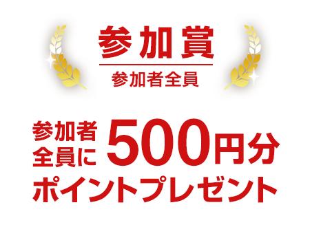 カスタムHACKエントリー条件を満たした全員に500ポイントプレゼント!