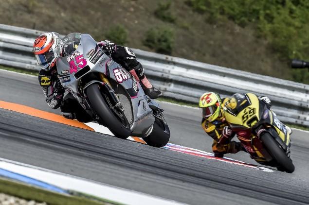 Crash ends Tetsuta's learning experience at Brno