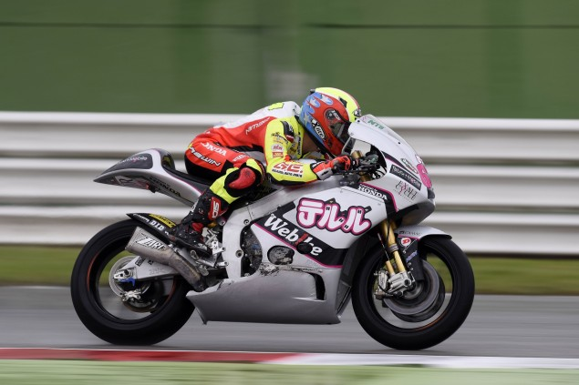 Damp baptism of fire for Caricasulo at Misano