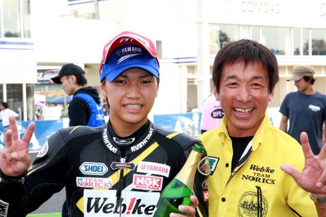 【Webikeチームノリックヤマハ】筑波ロードレース選手権で上和田選手がST600クラスのチャンピオンを獲得