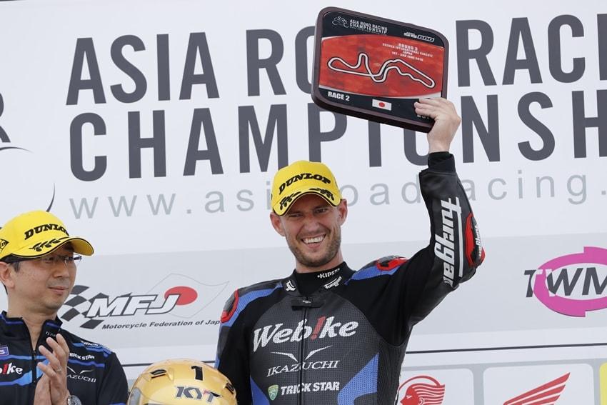【Webike IKAZUCHI Racing】ARRC SS600 Rd.3 アンソニー・ウエストがレース1で3位、レース2で優勝